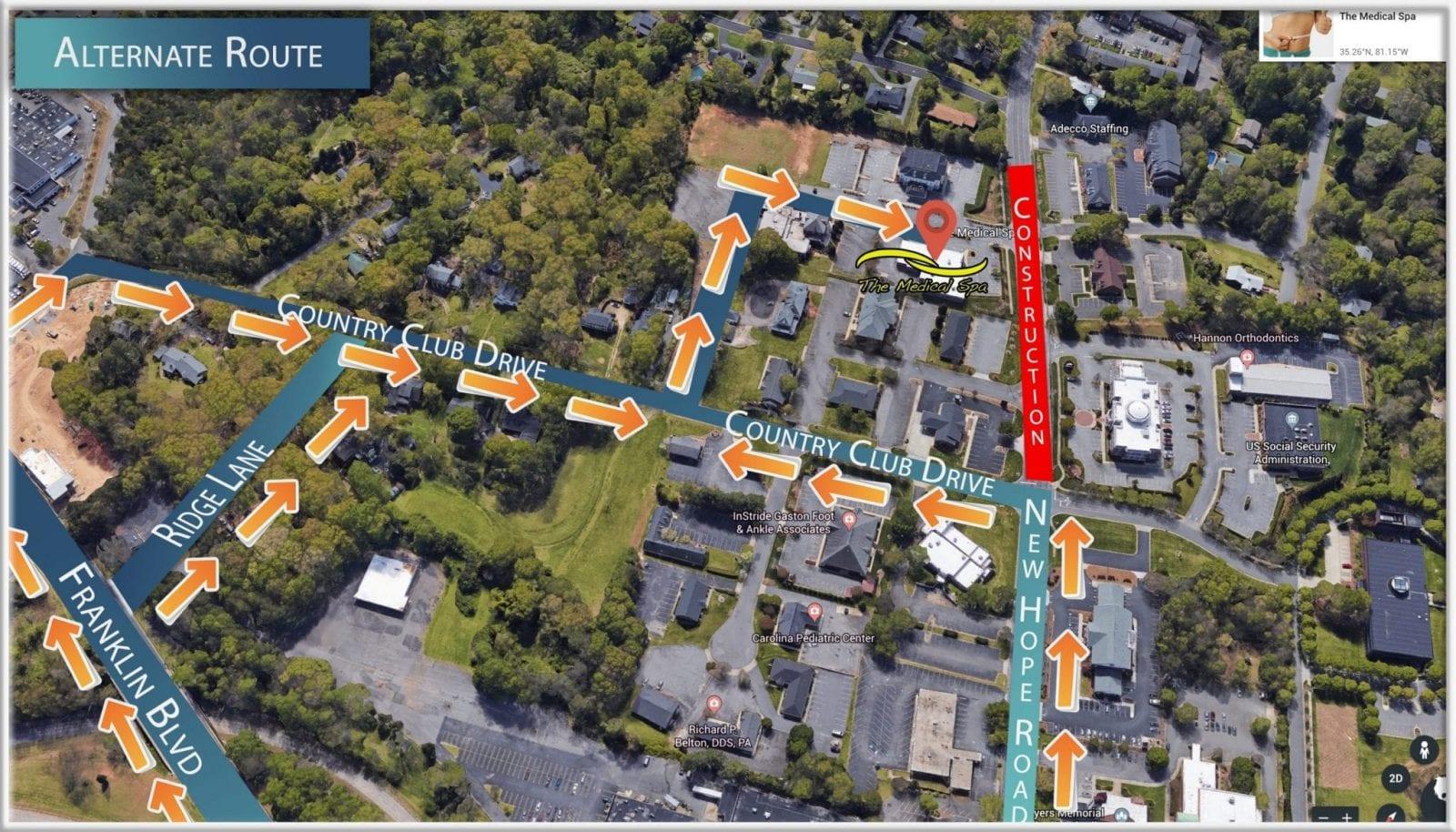 Alternate Route Map